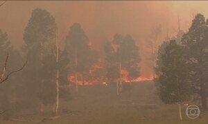 Incêndio florestal obriga mais de 700 moradores a deixarem suas casas em Utah, EUA