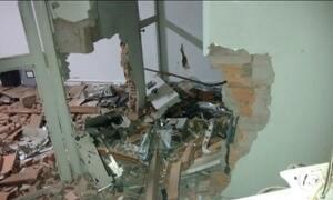 Ladrões explodem agências bancárias em MG e em PE