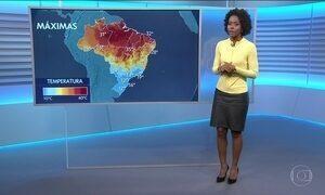 Confira a previsão do tempo para a quarta-feira (19) em todo o país
