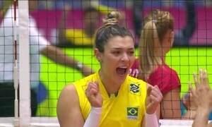Seleção feminina vence a Bélgica no Grand Prix de Vôlei