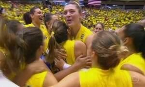 Brasil vence os EUA e vai à fase final do Grand Prix de vôlei feminino