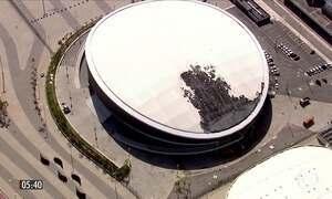 Incêndio destrói parte do velódromo no Parque Olímpico no RJ
