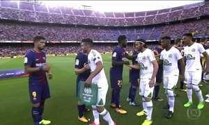 Chapecoense faz partida histórica contra o Barcelona