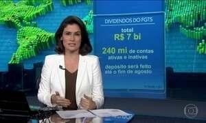 Governo vai distribuir R$ 7 bilhões em contas do FGTS