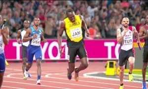 Bolt não consegue terminar o revezamento quatro por cem metros no mundial de atletismo