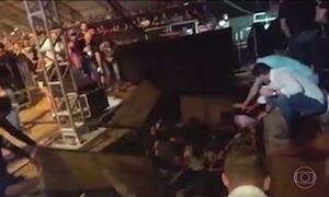 Parte do palco cede e show do DJ Alock é cancelado no interior de SP