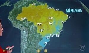 Dia para usar casaco e guarda-chuva em alguns estados do país