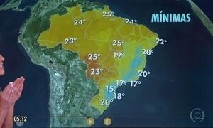 Confira a previsão do tempo para a quarta-feira (18)