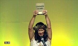 Professora de aldeia indígena ganha Prêmio Educador Nota 10