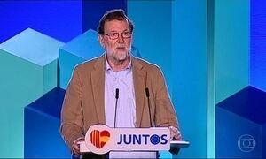 Mariano Rajoy visita a Catalunha pela primeira vez após destituir governo