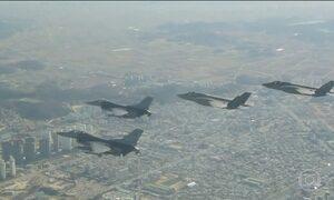 EUA e Coreia do Sul começam maior exercício aéreo conjunto já feito entre os dois países