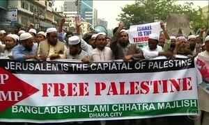 Muçulmanos de vários países se unem a palestinos em protestos contra decisão de Trump