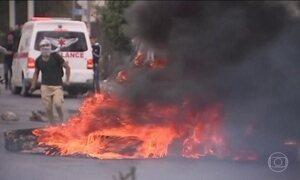 Palestinos são hospitalizados após conflitos na Cisjordânia e na Faixa de Gaza