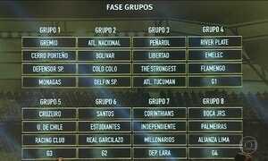 Brasileiros já sabem os primeiros adversários na Libertadores e Sul-Americana
