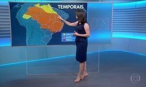 Confira a previsão do tempo para a quarta-feira (3) em todo o país