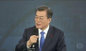 Presidente da Coreia do Sul diz que Trump tem crédito pelo encontro entre as Coreias