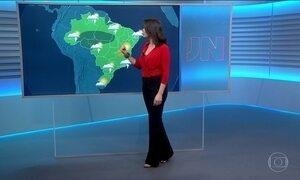 Confira a previsão do tempo para o sábado (13) em todo o país