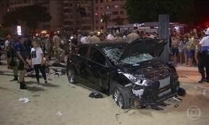 Local do acidente na Praia de Copacabana foi liberado após realização da perícia