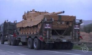 Turquia faz operação militar terrestre no Norte da Síria