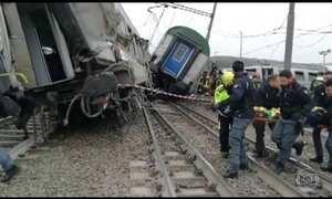 Trem descarrila na Itália deixa três mortos e mais de cem feridos