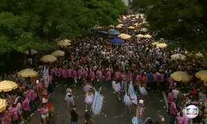 Blocos de carnaval de rua atraem multidão em SP