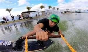 Lago artificial em Goiânia é o palco do Wake Brasil