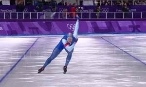 Norueguês fica com ouro na patinação de velocidade e quebra o recorde olímpico