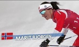 Esquiadora norueguesa é recordista de medalhas em Jogos Olímpicos de Inverno