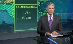Dólar comercial sobe para R$ 3,81