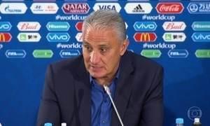 Tite não fica satisfeito com a pontaria da seleção no jogo contra a Suíça