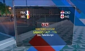 França enfrenta a Bélgica e a Croácia a Inglaterra por vaga na final da Copa