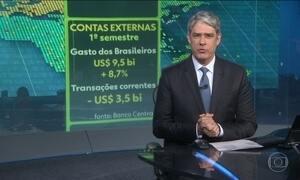 Brasileiros gastam US$ 9,5 bilhões no exterior, no primeiro semestre
