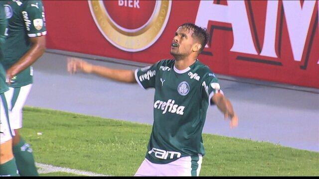 Gol do Palmeiras! Dudu toca e Gustavo Scarpa marca aos 10 do 1º tempo