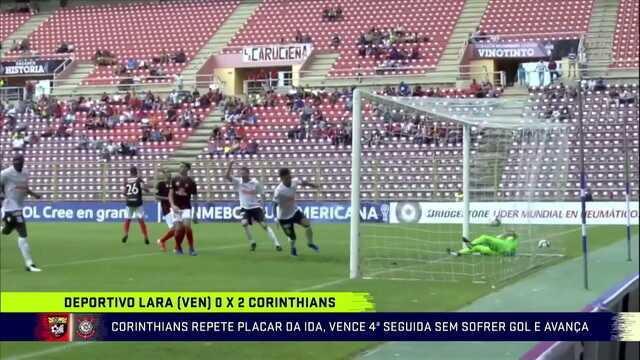 Corinthians vence o Deportivo Lara e passa de fase na Sul-Americana