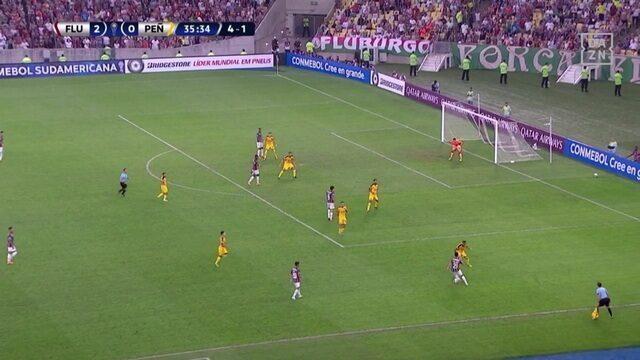 Melhores momentos de Fluminense 3 x 1 Peñarol pelas oitavas de final da Copa Sul-Americana