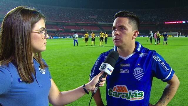 Héctor Bustamente fala sobre empate do CSA diante do São Paulo no Morumbi