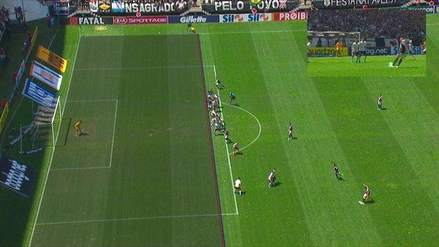 Veja a imagem que VAR usou para anular o gol do Vasco diante do Corinthians, aos 18' do 2ºT