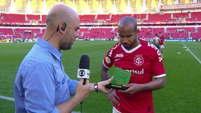 Patrick é eleito o craque do jogo em empate de Internacional e Palmeiras no Beira-Rio