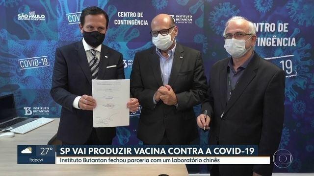 Doria anuncia que Butantan será parceiro de laboratório chinês para vacina contra o coronavírus em fase final de testes | São Paulo | G1