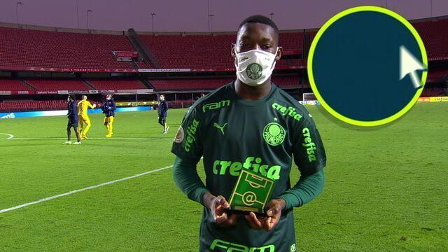 Patrick de Paula fala da vitória do Palmeiras contra o Santos