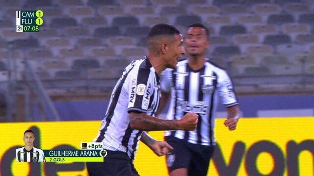 Gol do Atlético-MG! Arana recebe de Marrony e bate no cantinho para empatar, aos 6 do 2º tempo