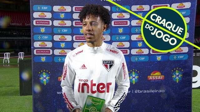 Craque do Jogo, Tchê Tchê exalta a vitória do São Paulo sobre o Atlético-MG