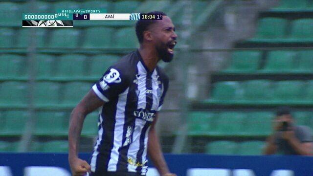 Gol do Figueirense! Após cobrança de escanteio, Guilherme Thiago manda pro fundo da rede, aos 16 do 1º