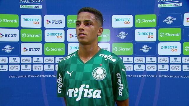 Giovani fala sobre a chance no time principal do Palmeiras
