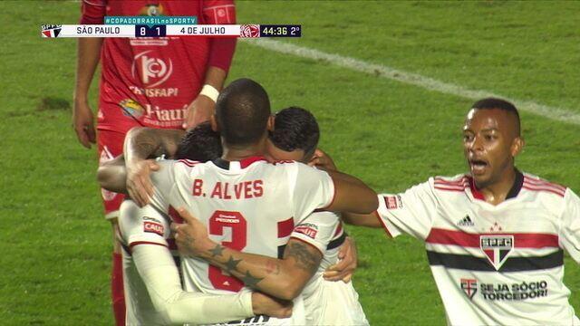 Melhores momentos de São Paulo 9 x 1 4 de Julho pela Copa do Brasil