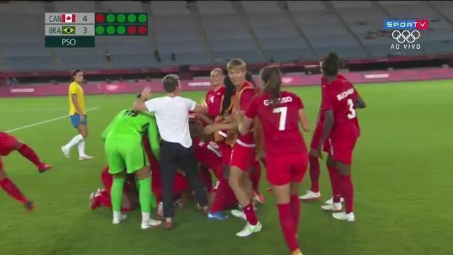 Melhores momentos: Canadá 0 (4) x (3) 0 Brasil pelas quartas de final do futebol feminino nas Olimpíadas de Tóquio