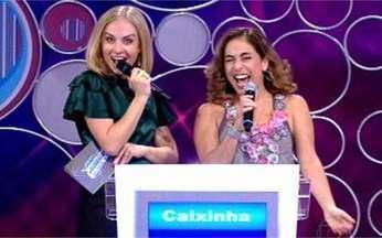 Cissa Guimarães participa do Vídeo Game - Atriz lembra da época em que era repórter do Vídeo Show.