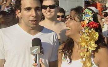Thalita Rebouças mostra como a galera 'paquera' no carnaval do Rio - Quadro Fala Sério, Vídeo Show! mostra adolescentes em bloco de carnaval