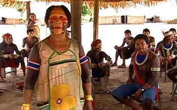 Tribos indígenas temem construção da usina de Belo Monte - A barragem da usina vai ajudar no represamento das águas. Só que esse desvio vai reduzir a vazão em 100 km do rio, quase toda a Volta Grande do Xingu. As tribos que vivem na região estão com medo.
