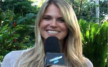 Susana Werner manda recado para Julio César - Ela esteve no Projac e conversou com o site do Vídeo Show sobre ansiedade, expectativas e supertições para os jogos do Brasil